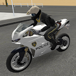 Police Motorbike Road Rider Icon
