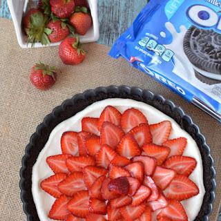 No Bake Strawberry Chocolate Oreo Tart.
