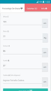 Calculadora de Grasa Corporal y Calorías Diarias - náhled