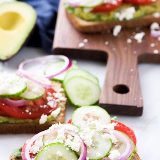 Open Faced Mediterranean Avocado Toast