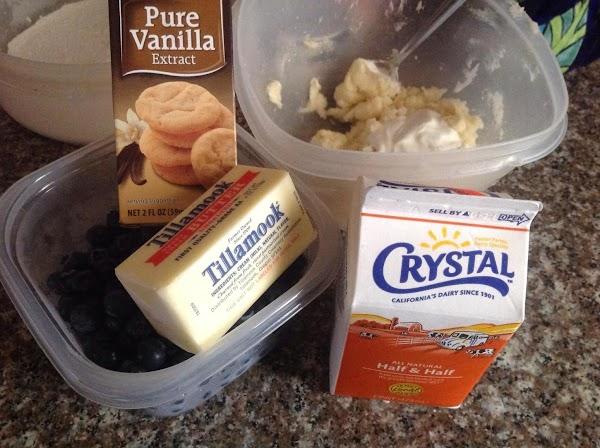 Cream softened butter, Vanilla, & sugar.