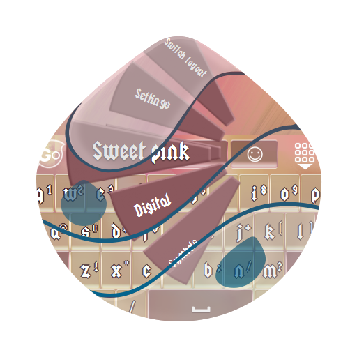 甜美的粉色 GO Keyboard 個人化 App LOGO-APP試玩