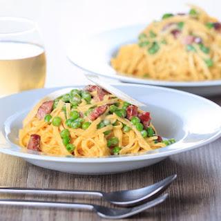 Pasta Carbonara With Sour Cream Recipes.