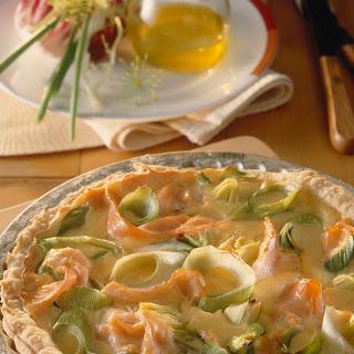 Lachs-Porree-Pie