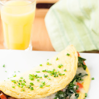 Spinach Fontina Omelette