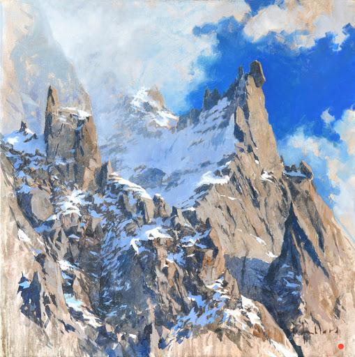 Pénitents des Cosmiques. oil on canvas, 60x60cm