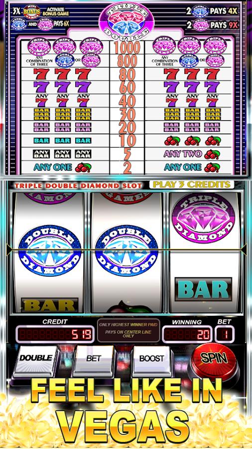 free double diamond casino slots