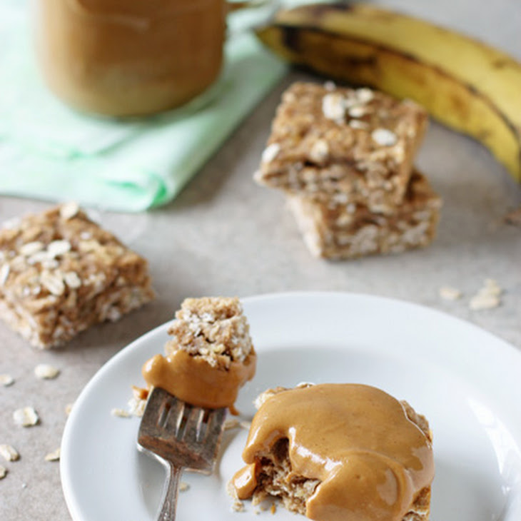 Healthy Spiced Banana Bread Oatmeal Bars Recipe