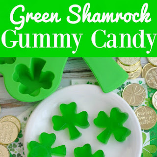 Green Shamrock Homemade Gummy Candy
