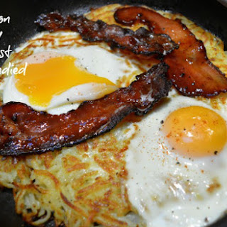 Gordon Ramsay Breakfast with Candied Bacon.