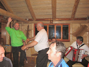 Photo: Dancing with the butcher, some new moves - even the accordionist seems impressed