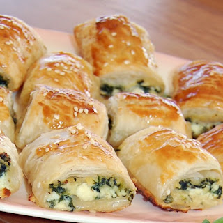 Spinach and Ricotta Rolls.