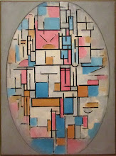 Photo: Piet MONDRIAN - Composition in oval with color planes 1