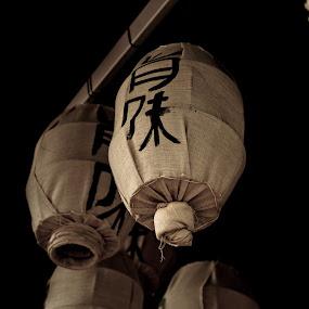 The lamps by Andrei Ciuta - City,  Street & Park  Markets & Shops ( lamps, stock, japanese lamp, berlin, japanese, restaurant, lamp post )