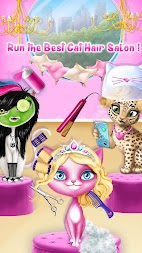 Cat Hair Salon Birthday Party - Kitty Haircut Care APK screenshot thumbnail 3