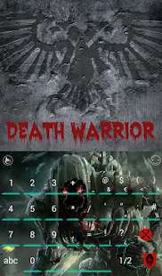 Death Warrior Keyboard Theme – Miniaturansicht des Screenshots