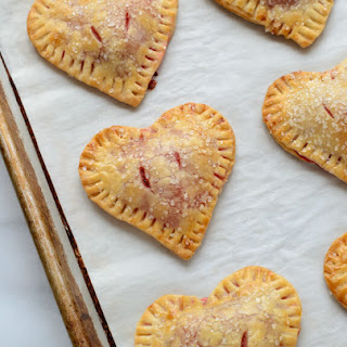Heart Shaped Strawberry Hand Pies.