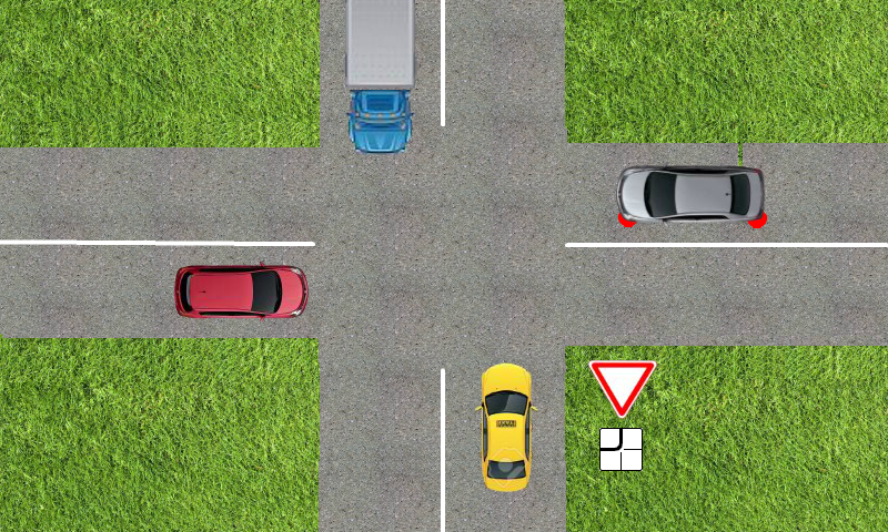 Driver Test Trainer : crossroads, signs, rules.- screenshot