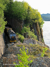 Photo: CD66 hauling a CargoNet freight train near Hell st.