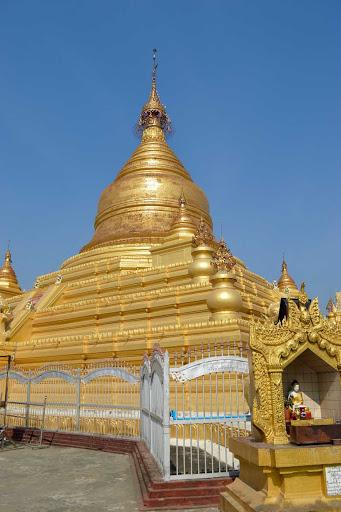 pagoda - The Great Dagon Pagoda or Golden Pagoda  (officially the Shwedagon Zedi Daw) is a dazzling gilded pagoda and stupa 325 feet in height in Yangon.