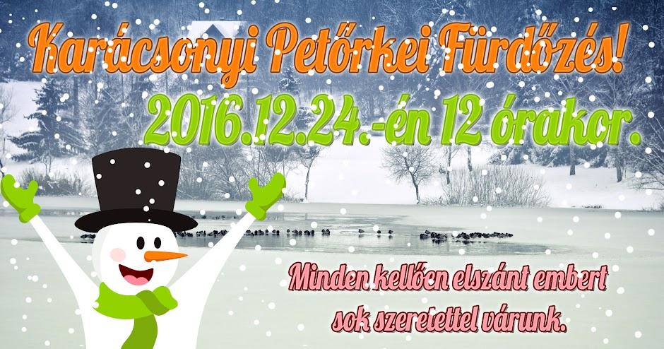 Karácsonyi Petőrkei Fürdőzés!