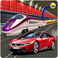 Sports Car vs Train: High Speed Racing Game