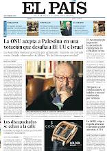 Photo: La ONU acepta a Palestina en una votación que desafía a EE UU e Israel, el Ayuntamiento improvisó la atención de emergenciaen el Madrid Arena, 200 jueces se rebelan contra el indulto a 'mossos' condenados por torturas, los discapacitados se echan a la calle y la OCDE exige a España abaratar el despido y subir aún más el IVA, en nuestra portada de este 30 de noviembre de 2012. http://srv00.epimg.net/pdf/elpais/1aPagina/2012/11/ep-20121130.pdf