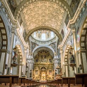 Nice Cathedral by Nikolas Ananggadipa - Buildings & Architecture Other Interior ( interior, warm, europe, church, churches, long exposure, cathedral, architecture, spain,  )