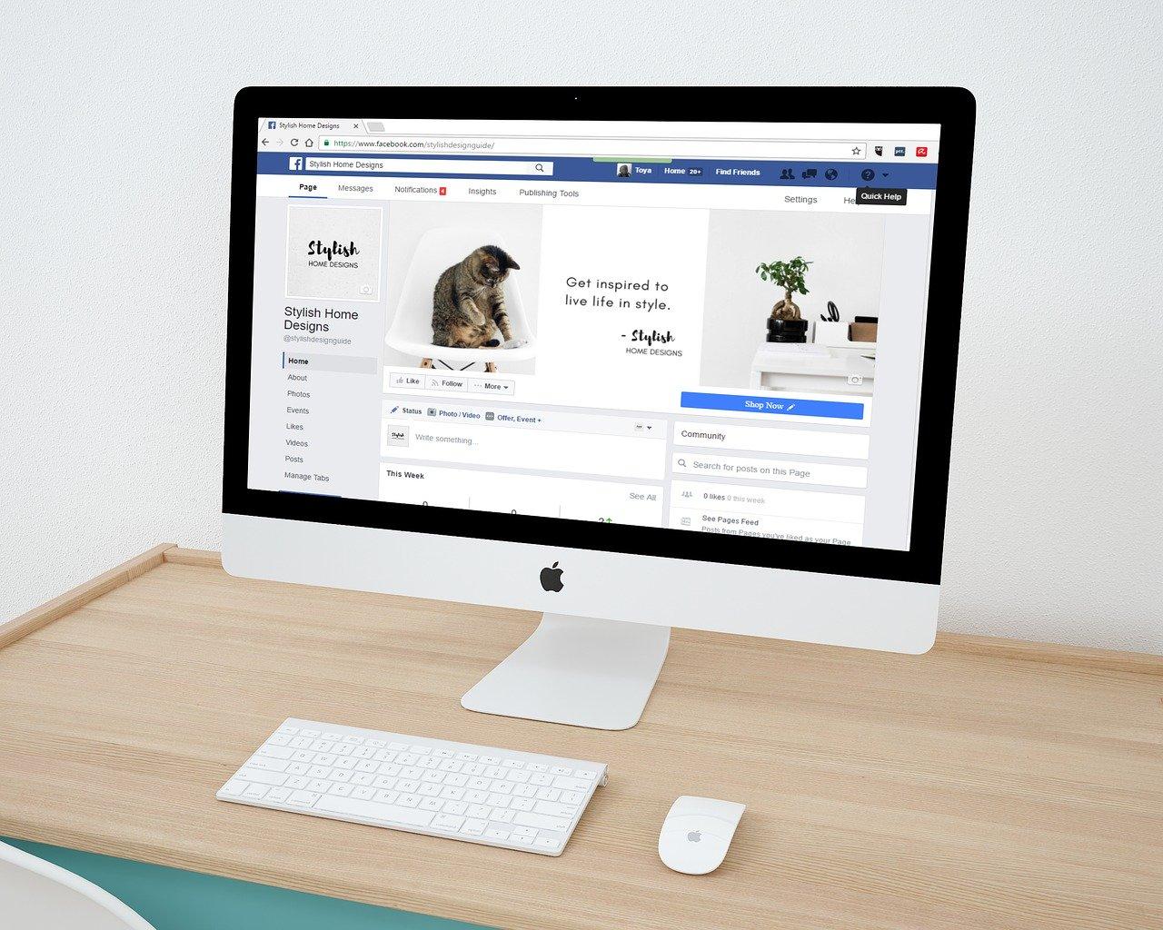 Facebook in MAC Computer