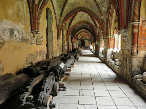 Photo: Cannons stored in the Dome Cathedral courtyard