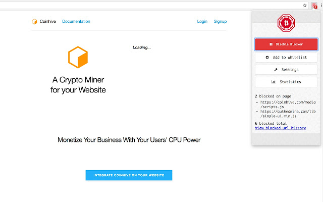 How to blok websites to use your cpu for cryptocurrency