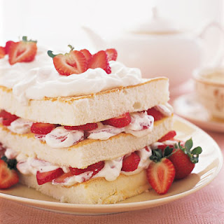 Strawberry-Angel Food Layer Cake