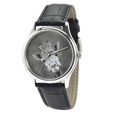 長頸鹿(黑白大頭)手錶