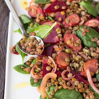 Lentil, Chorizo and Beetroot Salad Recipe