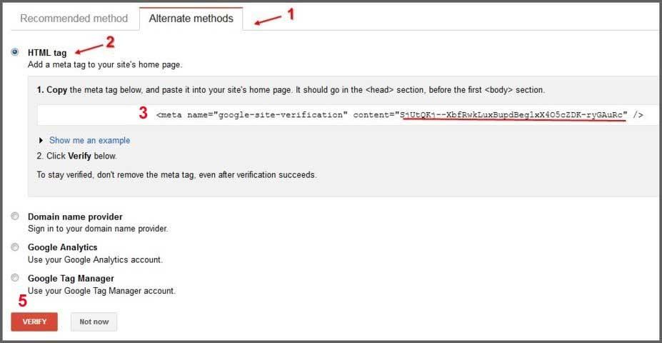 Cara verifikasi blog wordpress di google webmaster tools