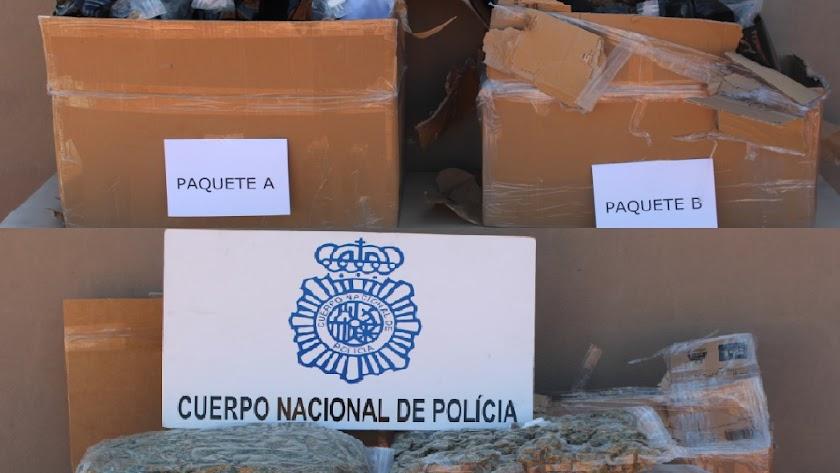 Marihuana incautada en Almería.