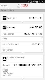 UBS Mobile Banking - screenshot thumbnail