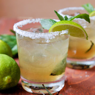 Thai-Inspired Basil Margarita with Spicy Thai Bitters.