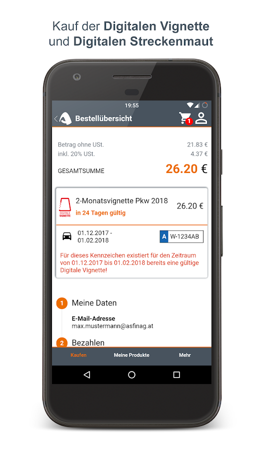 Unterwegs – Screenshot
