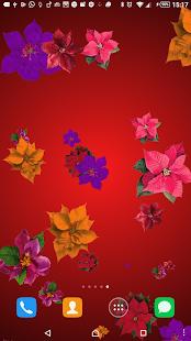 Christmas flower LWP screenshot