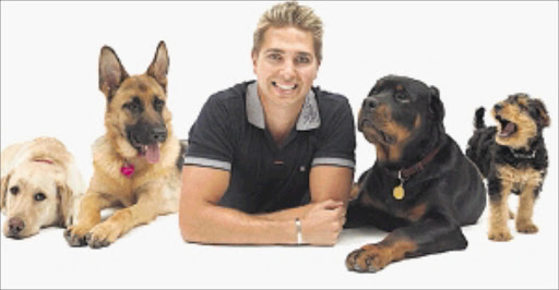 James Lech and dogs in a picture from his website
