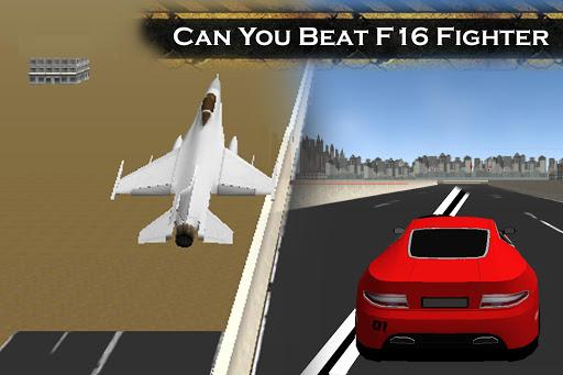無料赛车游戏Appのブガッティ・レースVS F16戦闘機|記事Game