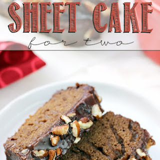 Texas Sheet Cake for Two