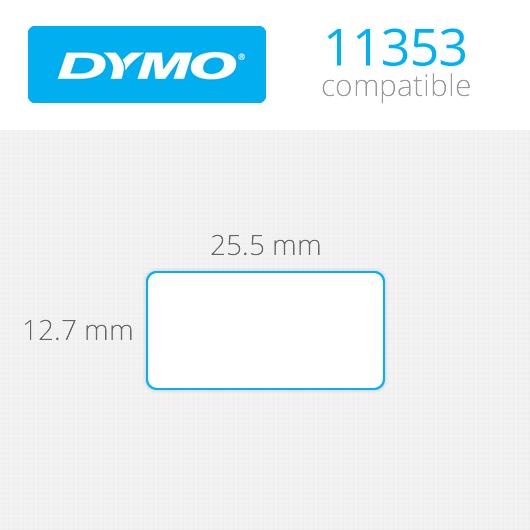 Dymo Labels 13x25mm κωδ: 11353 Ρολό 1000 ετικέτες