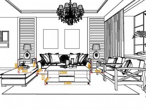 thiết kế nội thất phòng khách chung cư 52m2