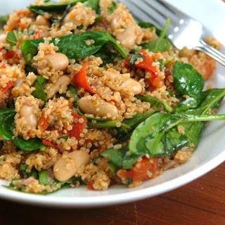 Quinoa Salad with Roasted Tomatoes, Basil, and Balsamic Vinaigrette