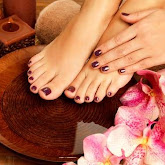 clean feet with nail polish on after a pedicure