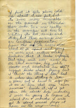 Photo: NavCAD Patrick Alonzo Tillery letter home from flight school 2 of 3 22 July 1954