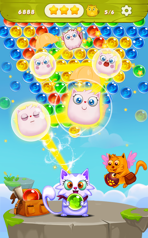 可愛いネコのバブルシューター ねこはほんとかわいいのおすすめ画像5