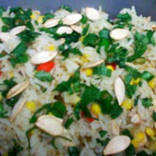 Chile Verde Chicken 'n' Rice.